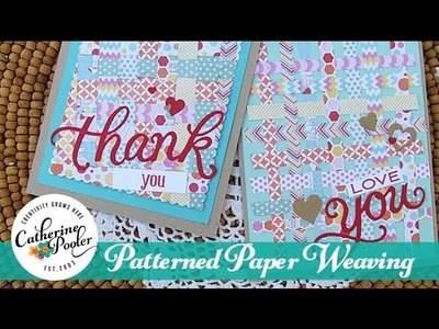 Patterned Paper:  Weaving