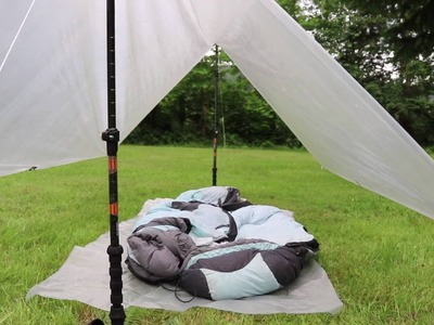 13oz Ultralight backpacking shelter (Easy DIY Guide!)
