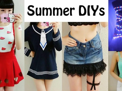 5 DIY Cool Summer Clothes & Room Décor+Giveaway:Light up, Navy Tie,Garter Lace up,Heart Hollow,more
