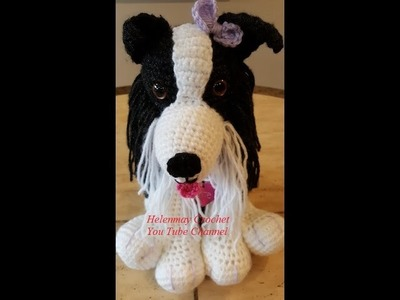 Crochet Border Collie Amigurumi Dog Part 2 of 3 DIY Tutorial