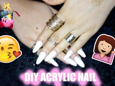 DIY Acrylic nails at home super Easy & Cheap | NAIL TUTORIAL