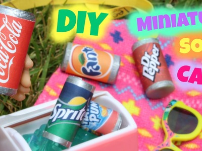 DIY American Girl Doll Soda Pop Cans