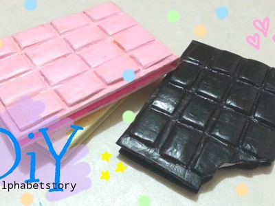 DIY BITTEN CHOCOLATE NOTEBOOK | cheap and easy | alphabetstory