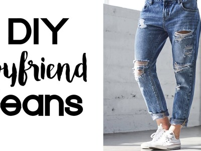 DIY Boyfriend Jeans | Thrift Flip