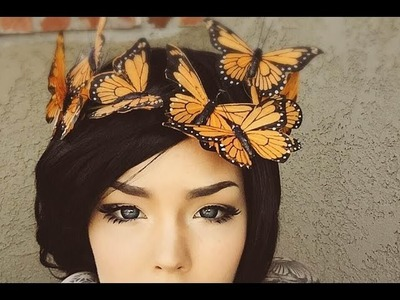 ►DIY ► BUTTERFLY CROWN! So easy!!