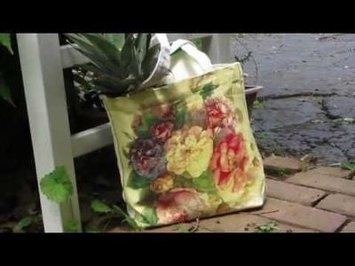 DIY Decoupage & Annie Sloan a Canvas Bag