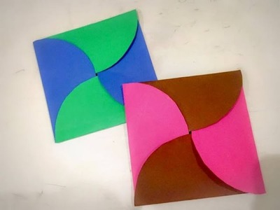 DIY Easy Paper envelope. Origami.Birthday Card for kids