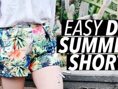 DIY Easy Summer Shorts (No Zipper! No Elastic! No Buttons!)