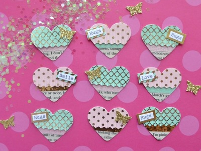Diy Embellishments: Mini Fringe Hearts - Build Your Stash #11