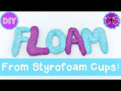 DIY FLOAM FROM CUPS!!  WE LOVE SLIME CRAFTS!!