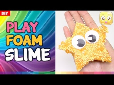 DIY Floam Slime Without Borax | Orange Dots By JellyRainbow