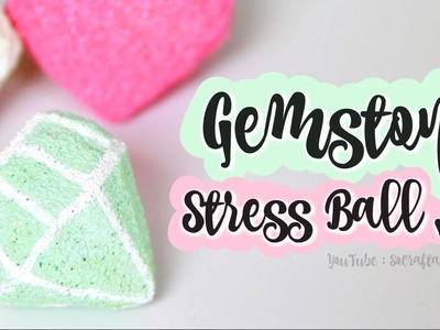 DIY Gemstone Stress Ball. Diamond Squishy. How to make Gems that Squish!