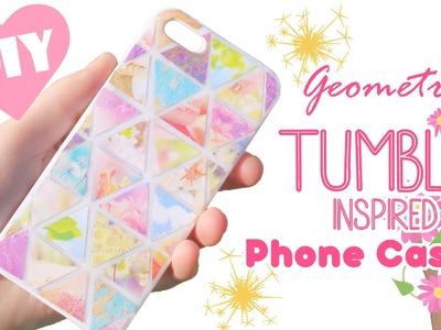 DIY Geometric Tumblr Inspired Resin Phone Case Tutorial