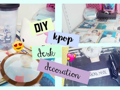 DIY Kpop Desk Decor ♡ Make Your Desk Cute!
