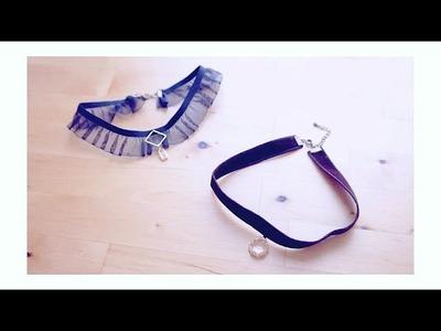 DIY + Lace Choker || Velvet Choker
