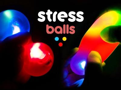 DIY LED Squishy Balls! Glow Stress Ball - MonsterKids