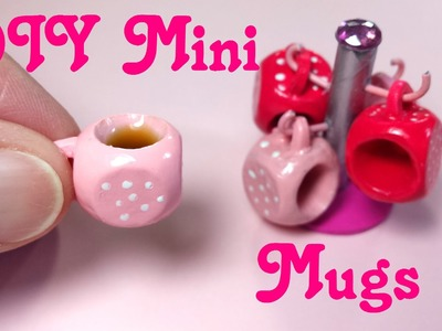 DIY Miniature Doll Mugs