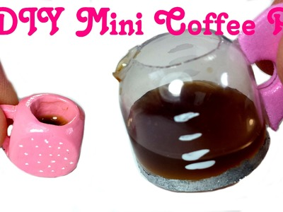 DIY Miniature Doll Working Coffee Pot w. Liquid