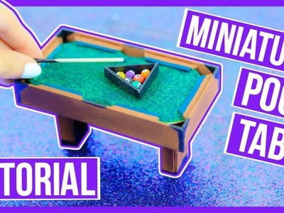 Diy: Miniature Pool Table Tutorial ~ Make your own pool table for your dollhouse ♥