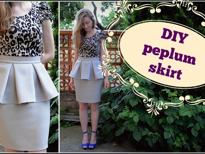 DIY peplum skirt.DIY peplum sukňa (SK,EN)