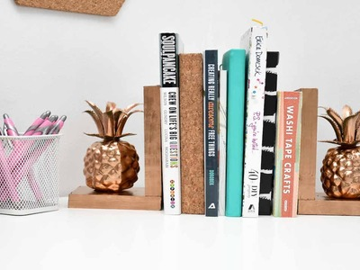 DIY PINEAPPLE BOOKENDS | Preparing for College #CORTatCollege