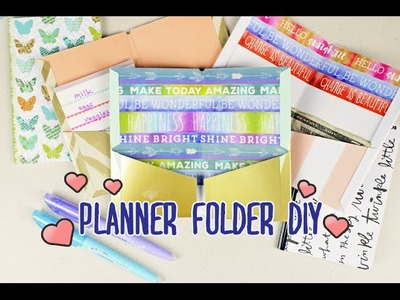 DIY Planner. Traveler's Notebook Folder