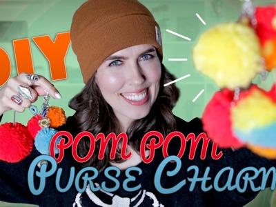 DIY Pom Pom Purse Charms