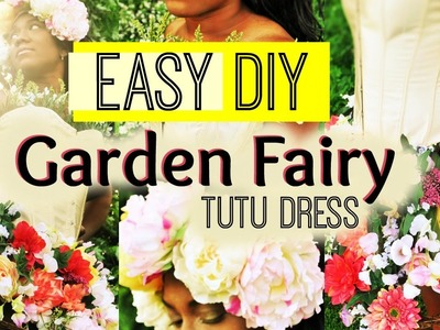 DIY Summer Garden Fairy Costume Tutu