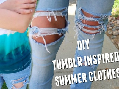 DIY Tumblr Inspired Summer Clothes + MEETUP | Jake Warden