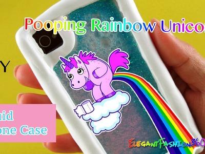 DIY Unicorn Pooping Rainbow Liquid Phone Case