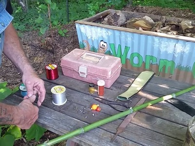 How to Make a Cane.Bamboo Fishing Pole   EASY DIY