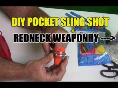 How To Make a DIY Survival Pocket SlingShot Gadget via Redneck Life Hacks- part 1
