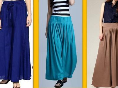 How to make latest designer palazzo pants. Tuk pleats DIY