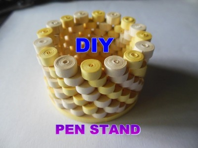 HOW TO MAKE PEN STAND USEING PAPER STRIPS:DIY PAPER QUILLING ART AND CRAFT TUTORIAL II SUMITA CRAFTS