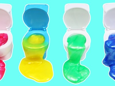 LEARN COLORS with Slime Toilet Surprise Toys! | DIY How to Make Color Toilets