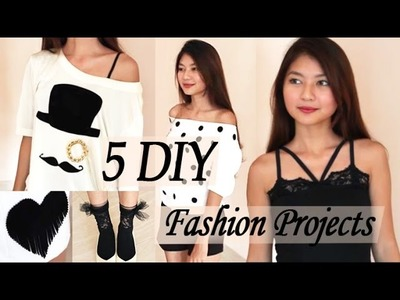 New! 5 DIY Fashion Projects from Old Clothes, Etc | Venezia Lowis | Transform T-Shirts & Shorts