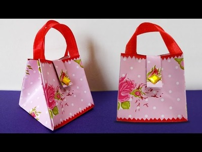 Paper Crafts : How to Make Handmade Mini Paper Bag | DIY Projects