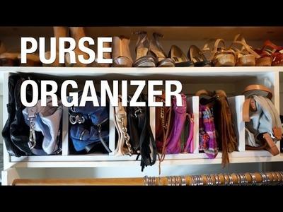 Store your handbags! DIY Purse Rack | Superholly