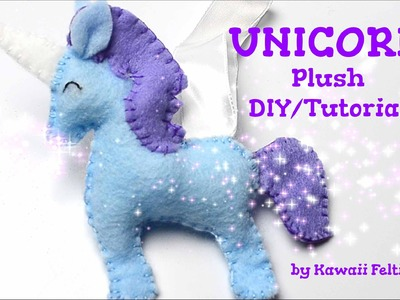 Unicorn Plush Sewing Tutorial DIY (How to DIY Crafts by Kawaii Felting)