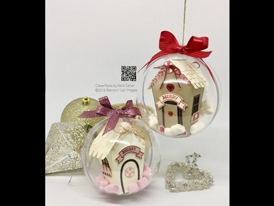 """39"" Sleeps Till Christmas House in a Bauble with Stampin' Up! Sweet Home Bundle"