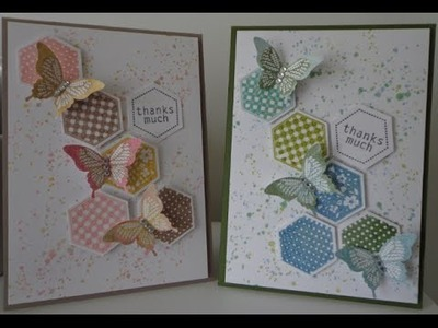 ~A shabby chic grunge butterfly card ~