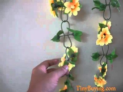 Artificial Sunflower Garland Silk Flower Vine for Home Wedding Garden Decoration [403360]