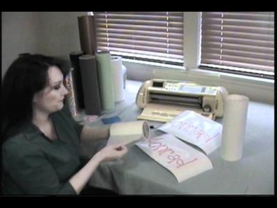 Cricut Vinyl- How to use cricut transfer tape and apply it to cricut vinyl perfectly!
