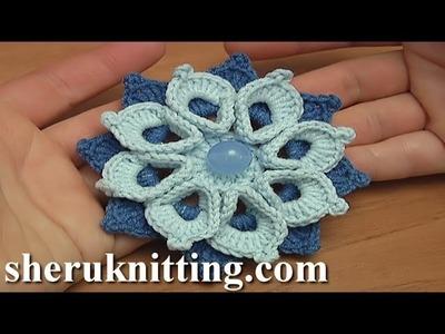 Crochet Double Layers Flower Tutorial 108