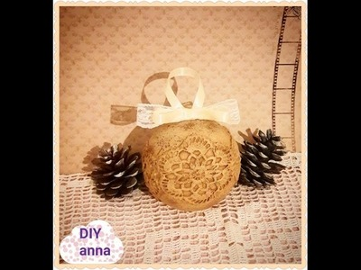 Decoupage vintage Christmas balls DIY shabby chic ideas decorations craft tutorial. URADI SAM