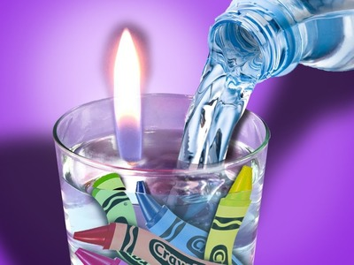 DIY CANDLES WITH WATER INSIDE, OMG!