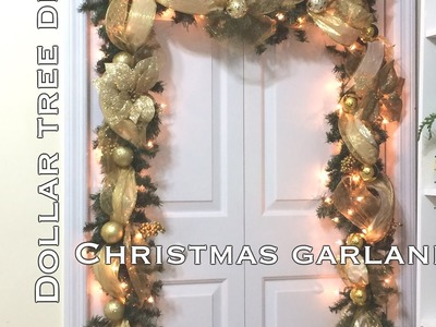 DIY|Dollar Tree Christmas Garland VD#8