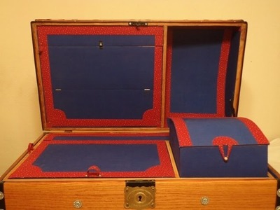 How to line the inside of an antique trunk