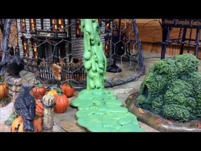 How to Make a Slime Waterfall for Your Halloween Display