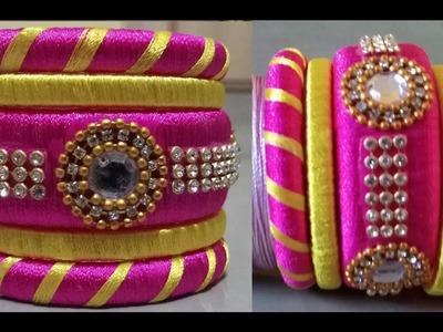 How to make designer silk thread bangles set